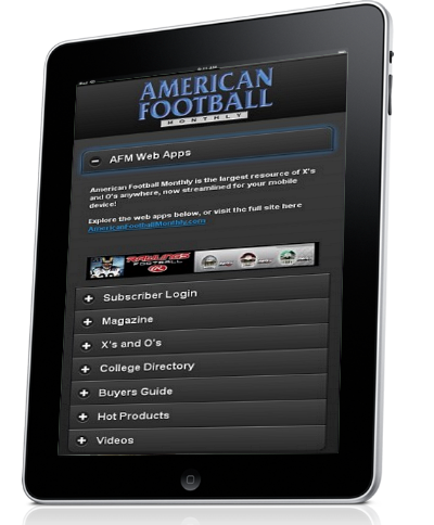 American Football Monthly Web Apps