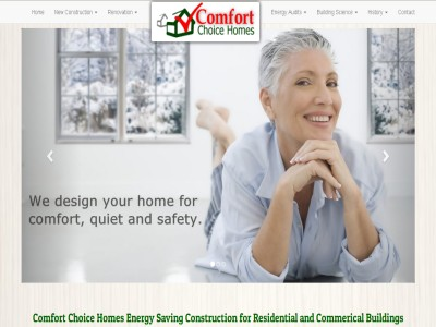 Photo of Comfort Choice Homes Web Site