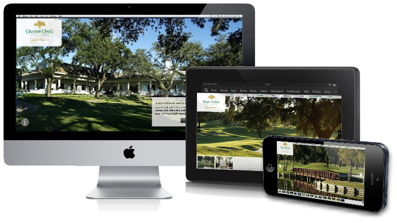 Palm Beach Digital Design - Grande Oaks Mobile View