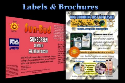 Sunbuddy Label and SaveUrFur Flyer