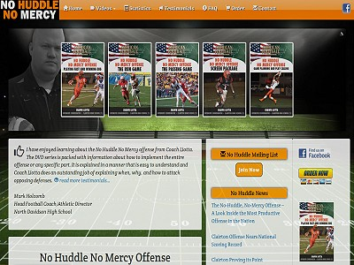 No Huddle NO Mercy Web Site Photo